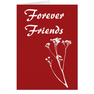 Forever Friends Red With White Tree Card