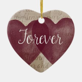 Forever Hearts Ceramic Ornament