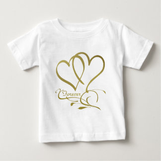 Forever Hearts Gold editable background colors Baby T-Shirt