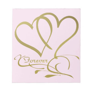 Forever Hearts Gold editable background colors Notepad