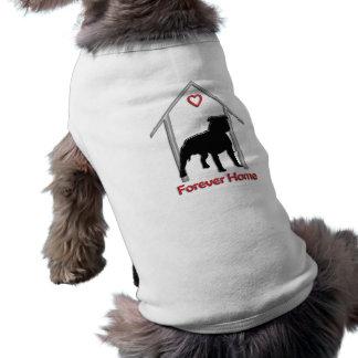 Forever Home Black Pitbull Logo Shirt