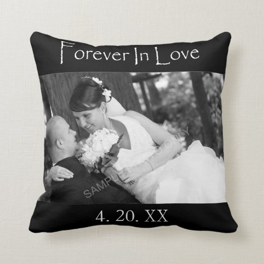 Forever In Love Wedding Photo Throw Pillow