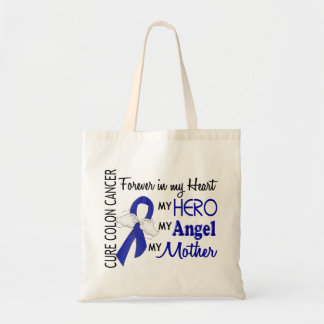 Forever In My Heart Mother Colon Cancer Budget Tote Bag