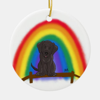 Forever in my heart ornament (black lab)