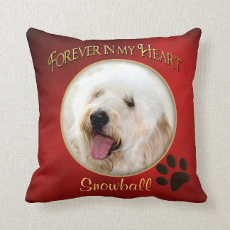 Forever in My Heart Pillow - Pet's Memory - Photo