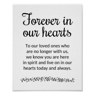 Forever In Our Hearts Wedding Sign - Rochester