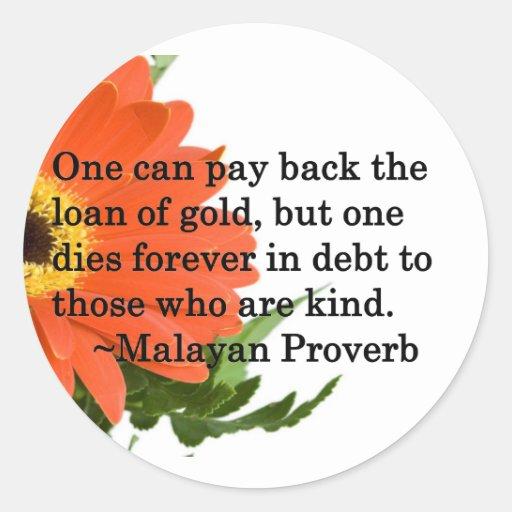 Forever in Your Debt… Round Sticker