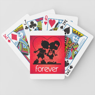 Forever Love Bicycle Playing Cards