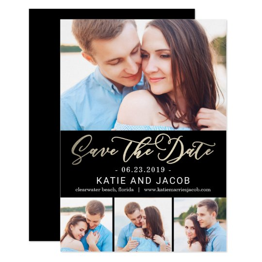Forever Love EDITABLE COLOR Save The Date Card