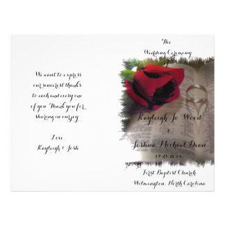 Forever Love Foldable Wedding Program