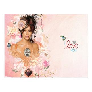 forever love ily postcard