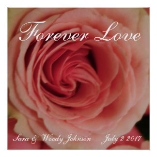 Forever Love Pink Rose Perfect Poster