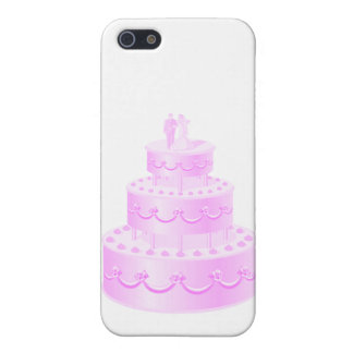 Forever Love Pink Wedding Cake Case For iPhone 5
