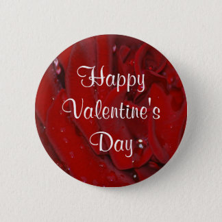 Forever Love Rose 2 Inch Round Button