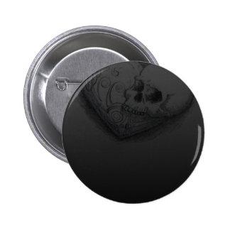Forever Love Skull Heart Tattoo Design 2 Inch Round Button