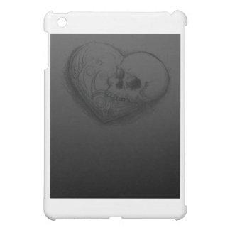 Forever Love Skull Heart Tattoo Design iPad Mini Case