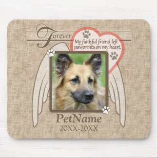 Forever Loved Angel Wings Pet Sympathy Custom Mouse Pad