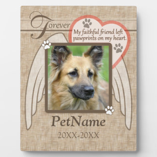 Forever Loved Angel Wings Pet Sympathy Custom Plaque
