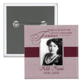 Forever Loved Custom Memorial 2 Inch Square Button