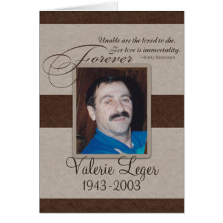 Forever Loved Custom Memorial Card