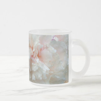 Forever Peony 10 Oz Frosted Glass Coffee Mug