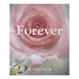 Forever Personalized Wedding Marriage Poster
