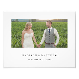 Forever | Personalized Wedding Print Photographic Print