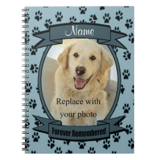 Forever Remembered Pet Loss - Dog or Cat (blue) Notebook