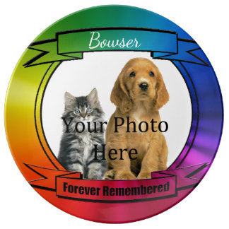 Forever Remembered Rainbow Pet Memorial Porcelain Plates