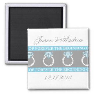 Forever Ring Wedding Keepsake Magnet