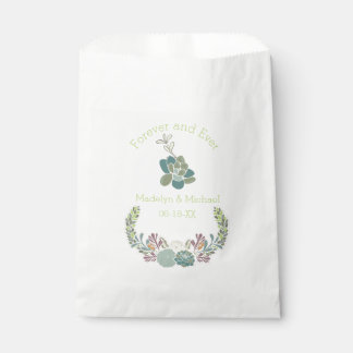 Forever Succulents Custom Wedding Favor Bags