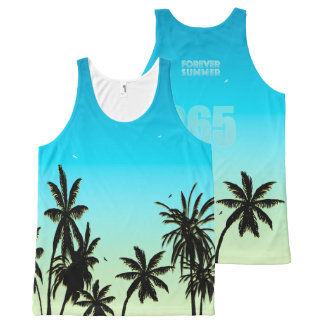 Forever Summer 365 Blue Sky Fade Palm Trees All-Over-Print Tank Top