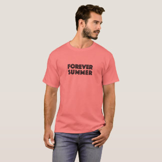Forever Summer 365 Coral Pink Black Palm Tree T-Shirt