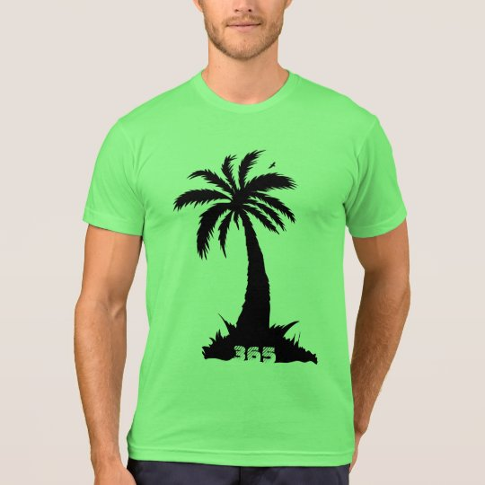 Forever Summer 365 Lime Black Palm Trees T-Shirt