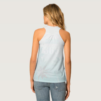 Forever Summer 365 White Ice Fade Palm Trees Tank Top