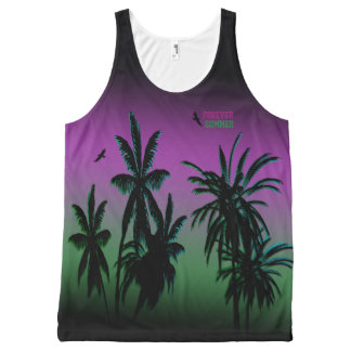 Forever Summer Aurora Borealis Purple Sky Fade All-Over-Print Tank Top