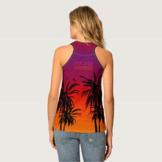Forever Sunset Tahiti Purple Orange Fade Tropical Tank Top