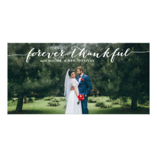 Forever Thankful Hand Lettered Wedding Thank You I Card