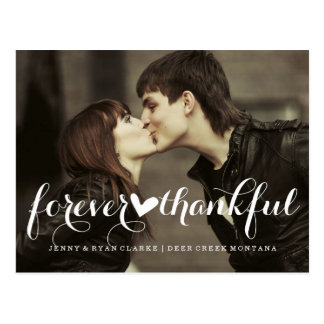 FOREVER THANKFUL SCRIPT | WEDDING POST CARD