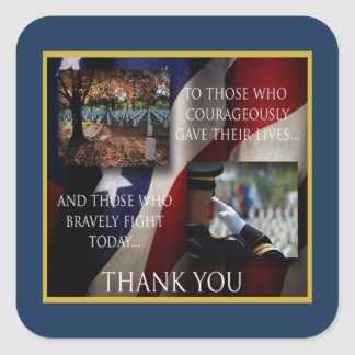 Forever Thankful Veterans Day Stickers