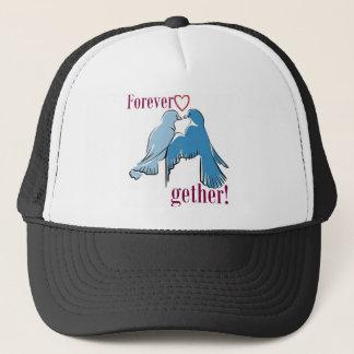 forever together birds love trucker hat