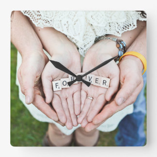 Forever Together| Couple hands Photo Wall Clocks