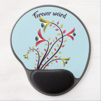 Forever Weird Colorful Flowers Staring Eyes Gel Mouse Pad