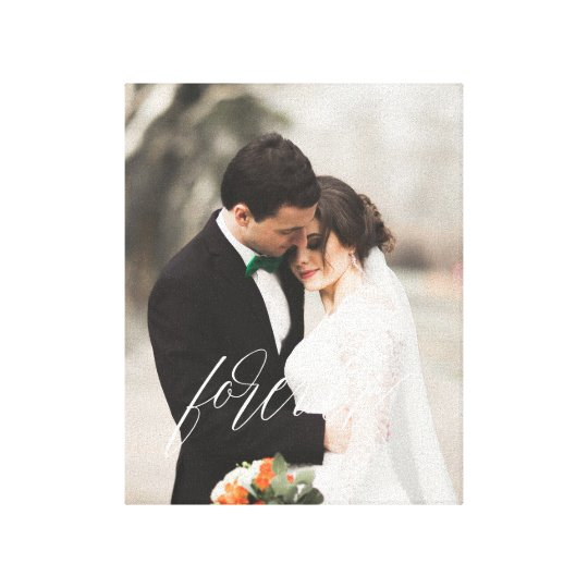 FOREVER White Overlay Gift Photo Canvas