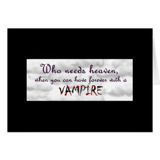 Forever with a Vampire Note Card