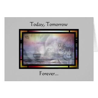 Forever Wolves Card