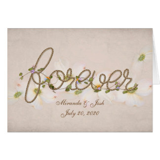 Forever word for wedding card