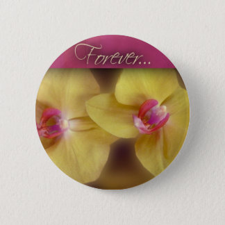 Forever ... yellow iris 2 inch round button