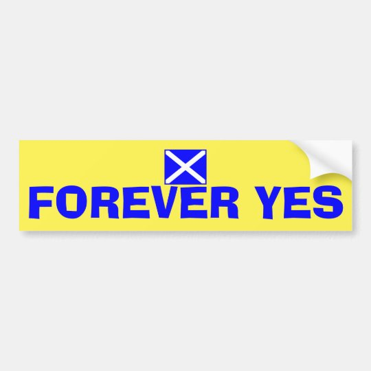 Forever Yes Scottish Independence Flag Sticker