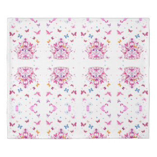 Forever Young girly infinity lovely butterflies Duvet Cover